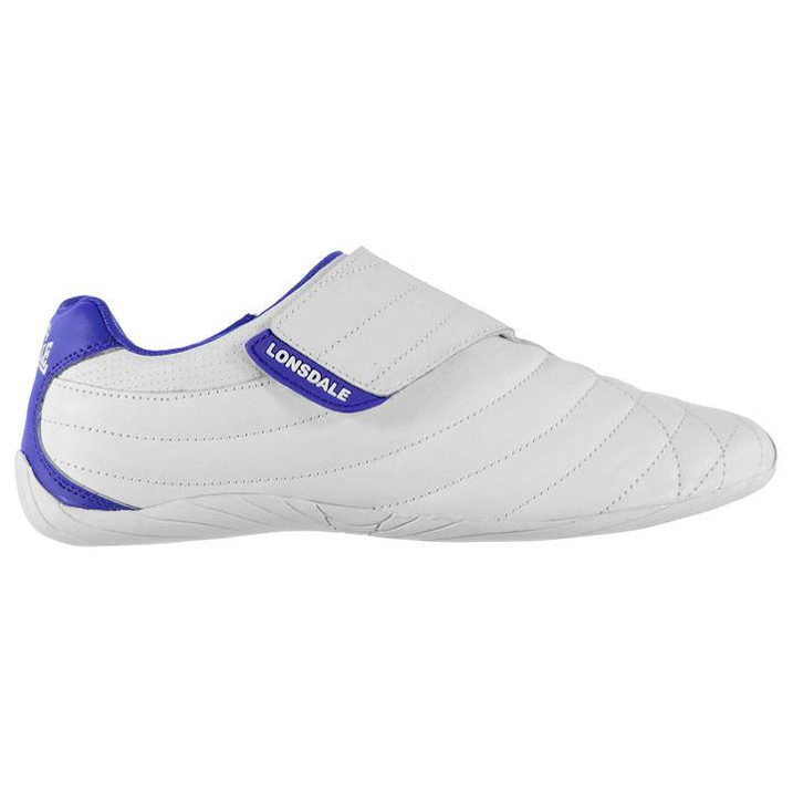 Lonsdale Brompton Mens Trainers - White Blue