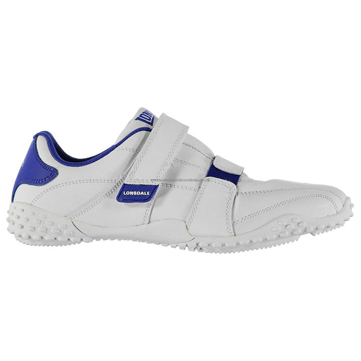 Lonsdale Fulham Mens Trainers - White Royal