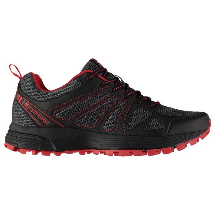 Karrimor Caracal Mens Trail Running Black Grey Red
