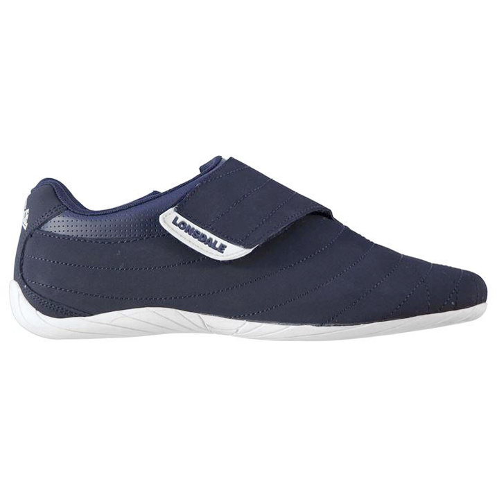 Lonsdale Brompton Mens Trainers - Navy White