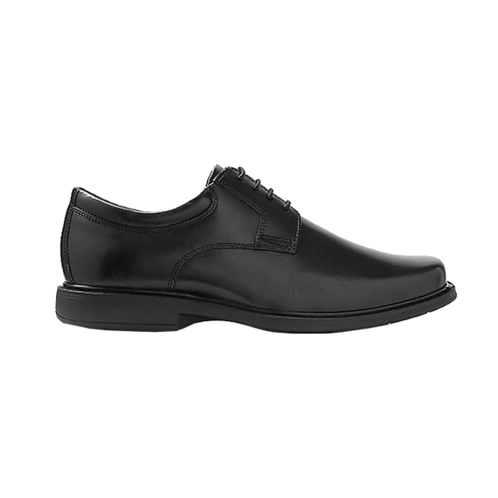 Extra Wide Fit Leather Shoes with Airflex Black