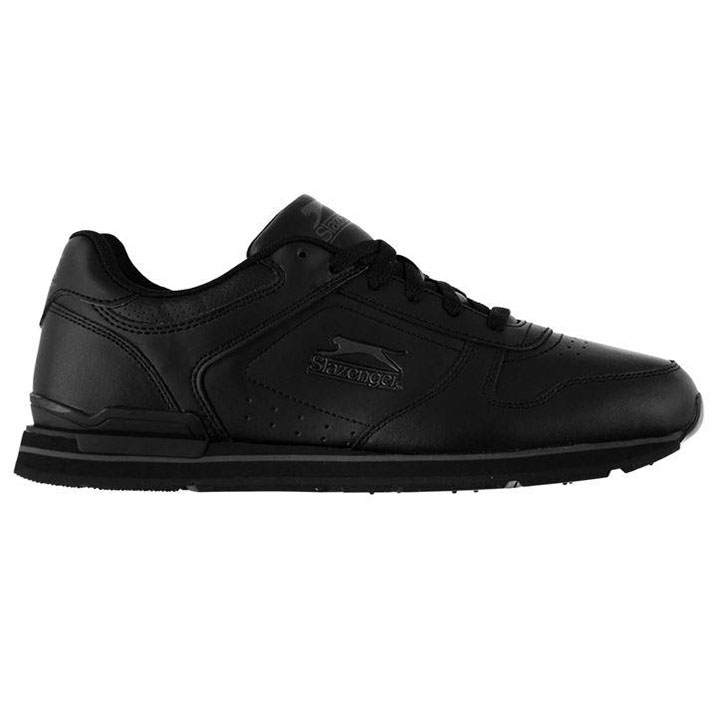 Slazenger Classic Mens Trainers - Black Charcoal
