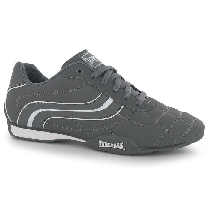 Lonsdale Camden Mens Trainers  - Grey White