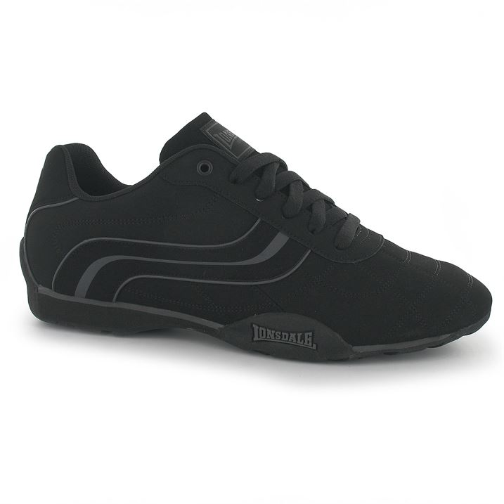 Lonsdale Camden Mens Trainers - Black Black