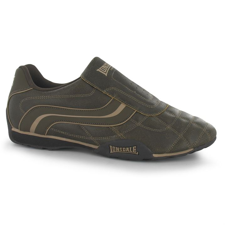 Lonsdale Camden Slip On Mens Trainers - Brown Dist