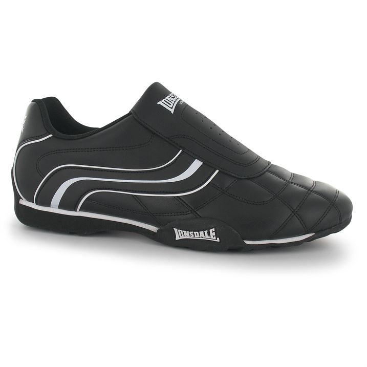 Lonsdale Camden Slip On Mens Trainers - BlackWhite