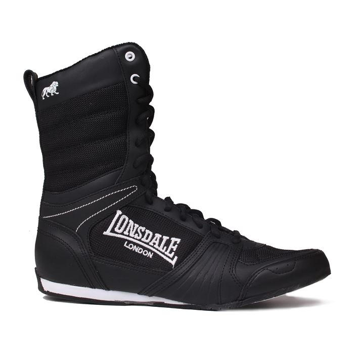 Lonsdale Cruiser Hi Mens Boxing Boots Black White