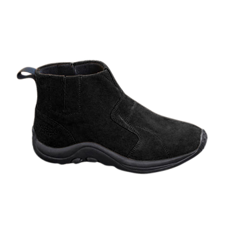 Cotton Traders Suede Slip-on Boots - Black