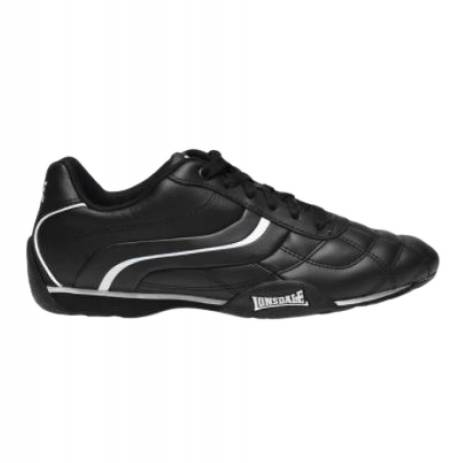 Lonsdale Camden Mens Trainers - Black White