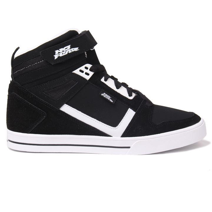 No Fear Elevate Mens Skate Shoes - Black White