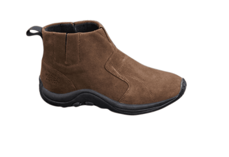Cotton Traders Suede Slip-on Boots - Chocolate