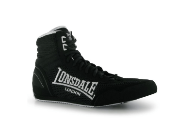 Lonsdale Contender Mens Boxing Boots - Black White