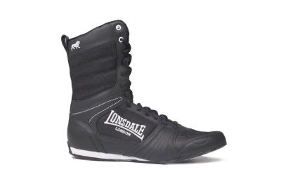 Lonsdale Cruiser Hi Mens Boxing Boots Black White