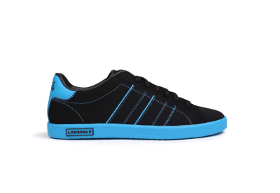 Lonsdale Oval Trainers Mens - Black Blue