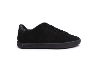 Lonsdale Oval Trainers Mens - Black Black