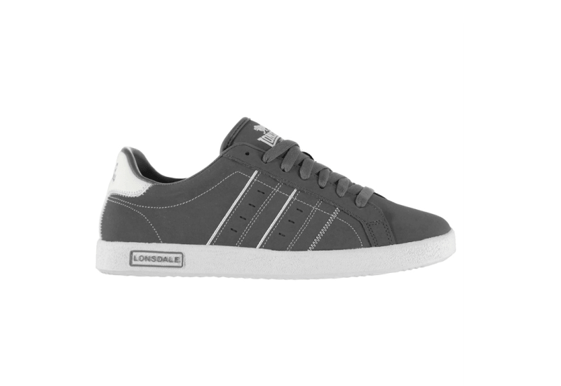 Lonsdale Oval Trainers Mens - Grey White